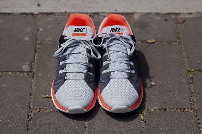 Nike Lunarflash Platinum Crimson Front 1