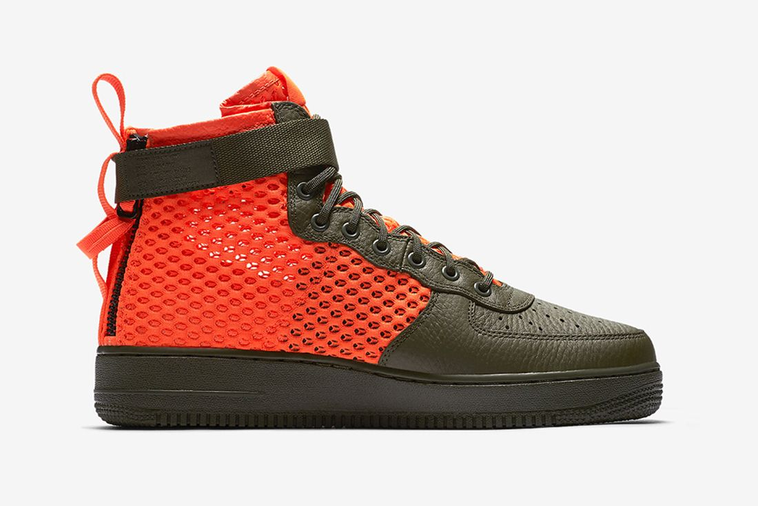 Nikes Sf Af 1 Goes Off Duty In Crimson Mesh5
