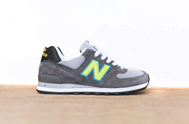 New Balance 574 Cyan Yellow 1