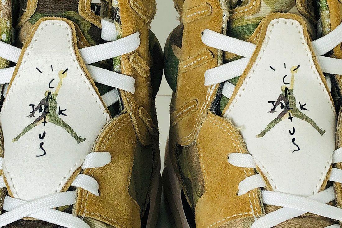 Air Jordan 6 Travis Scott Cactus Jack Wheat Brown Multicam kraz83kicks