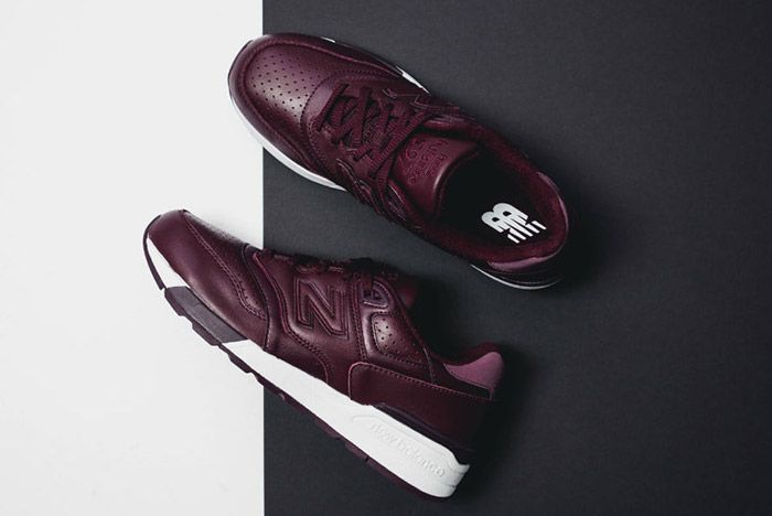 New Balance 597 Burgundy Leather 2