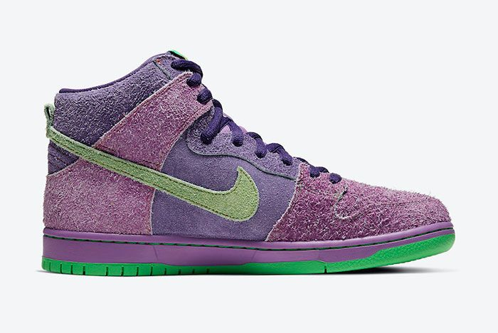 Nike SB Dunk High 4/20 'Reverse Skunk' Medial