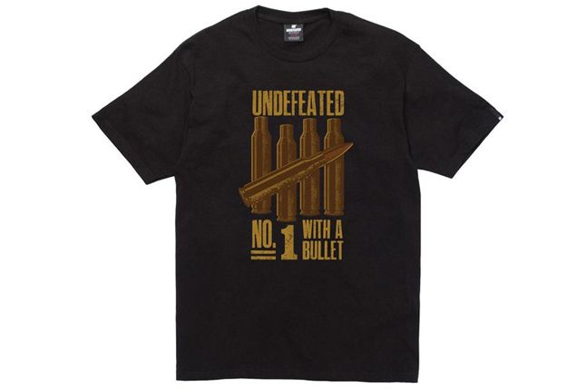 Undefeated T Shirt No1 Bullet Black 1