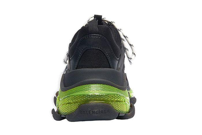 Balenciaga Triple S Neon Yellow Heel