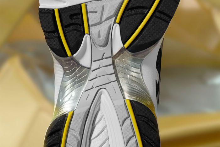 Asics Gel 1090 White Silver Close Up Sole Shot