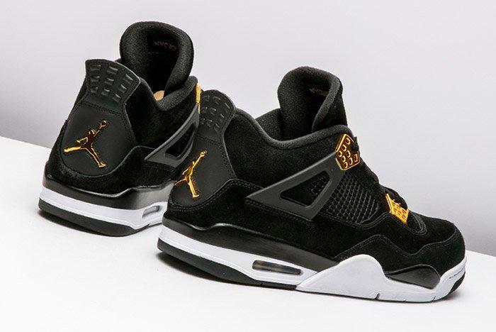 Air Jordan 4 Royalty Black Gold 2