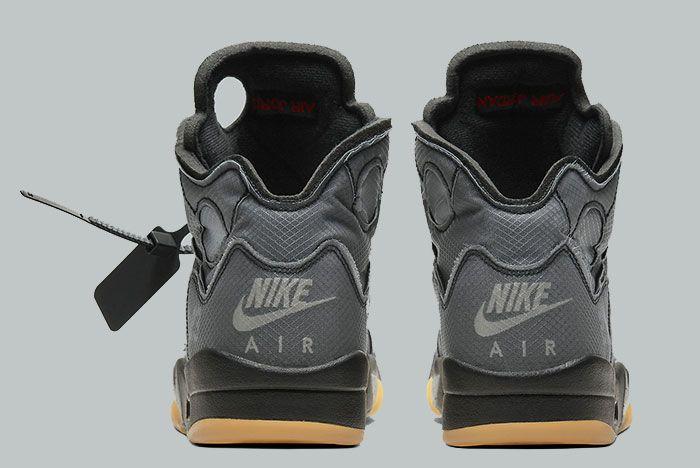 Off White Air Jordan 5 Ct8480 001 Heel Shot