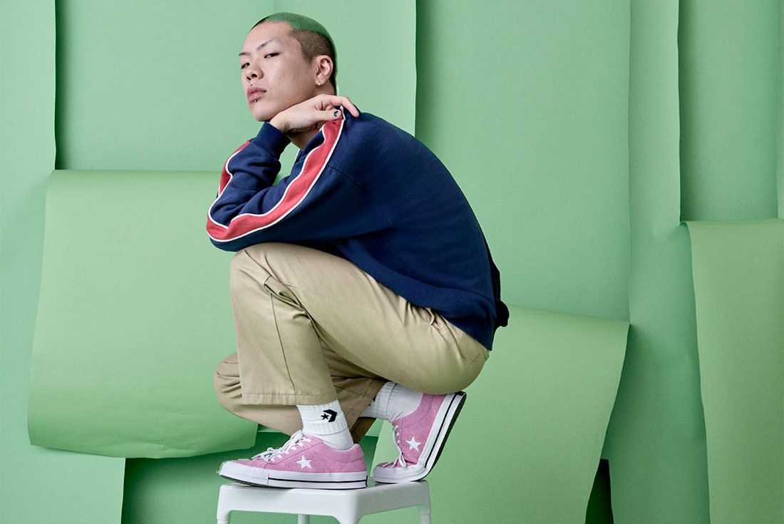 Sp18 Oh Hyuk Green 04 77139 Converse One Star Sneaker Freaker