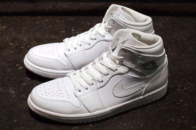 Air Jordan 1 White On White Pair 1