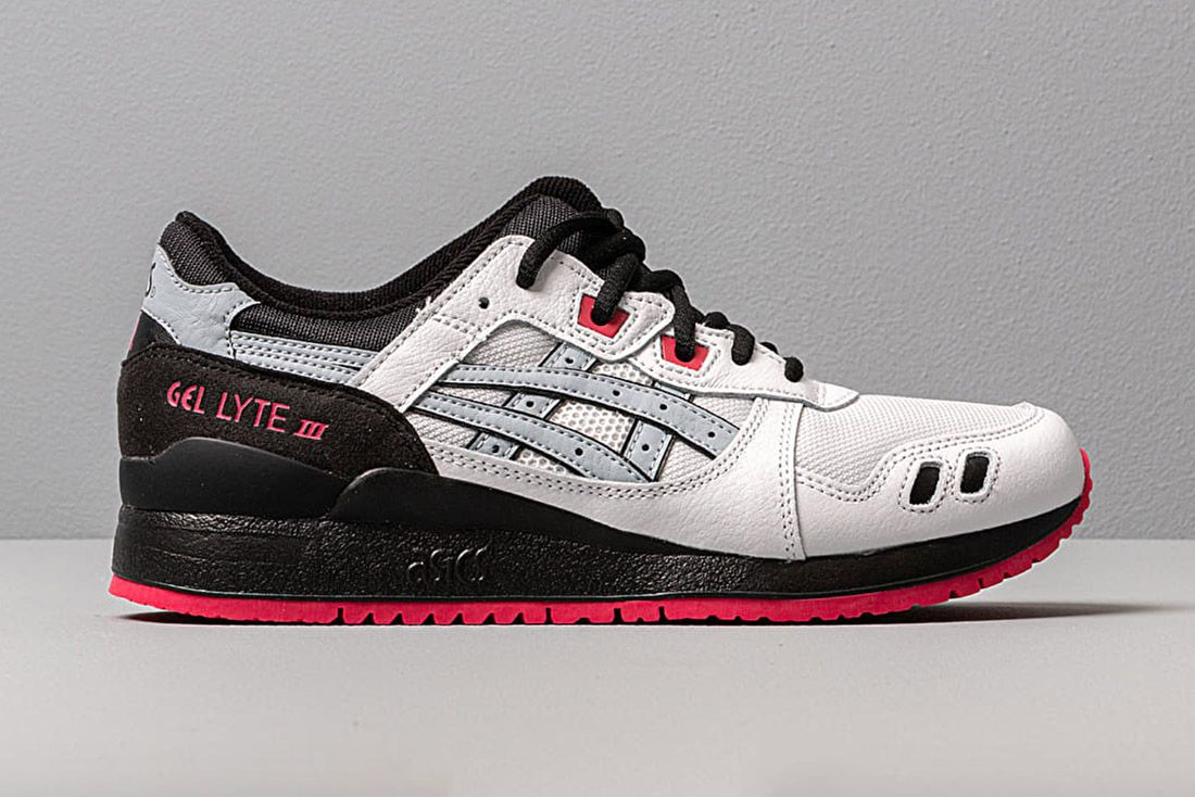 Asics Gel Lyte Iii White Piedmont Grey Black Red 1191A245 100 Lateral