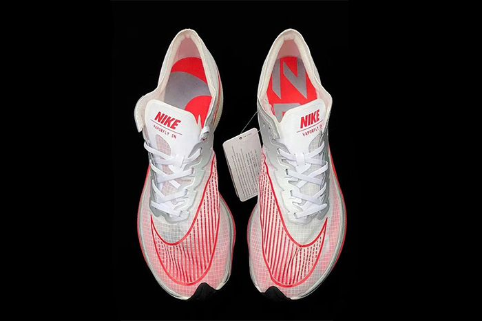Nike Vaporfly 5 Percent White Red First Look Top Down