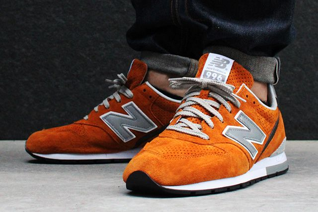 New Balance Beauty Youth United Arrows 996 Orange Suede 2