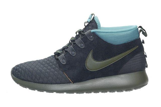 Nike Roshe Run Sneakerboot Darkloden Mineral Teal 6