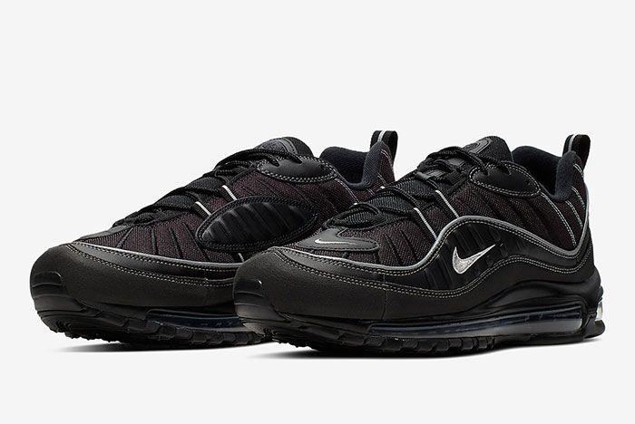 Nike Air Max 98 Triple Black 640744 013 Front Angle