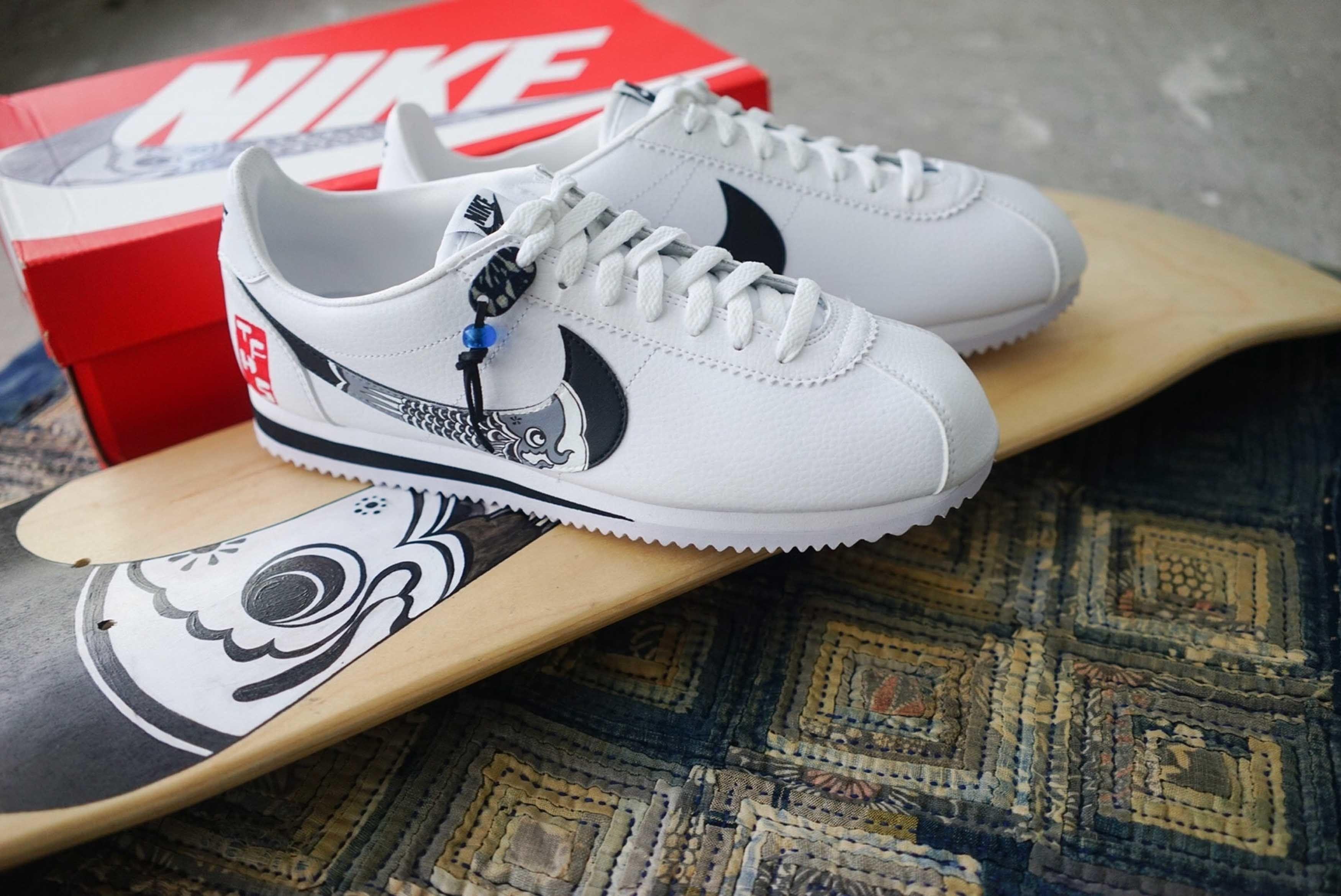 Nike Cortez Simple Union The Flying Hawk Studio Custom 3 Sneaker Freaker