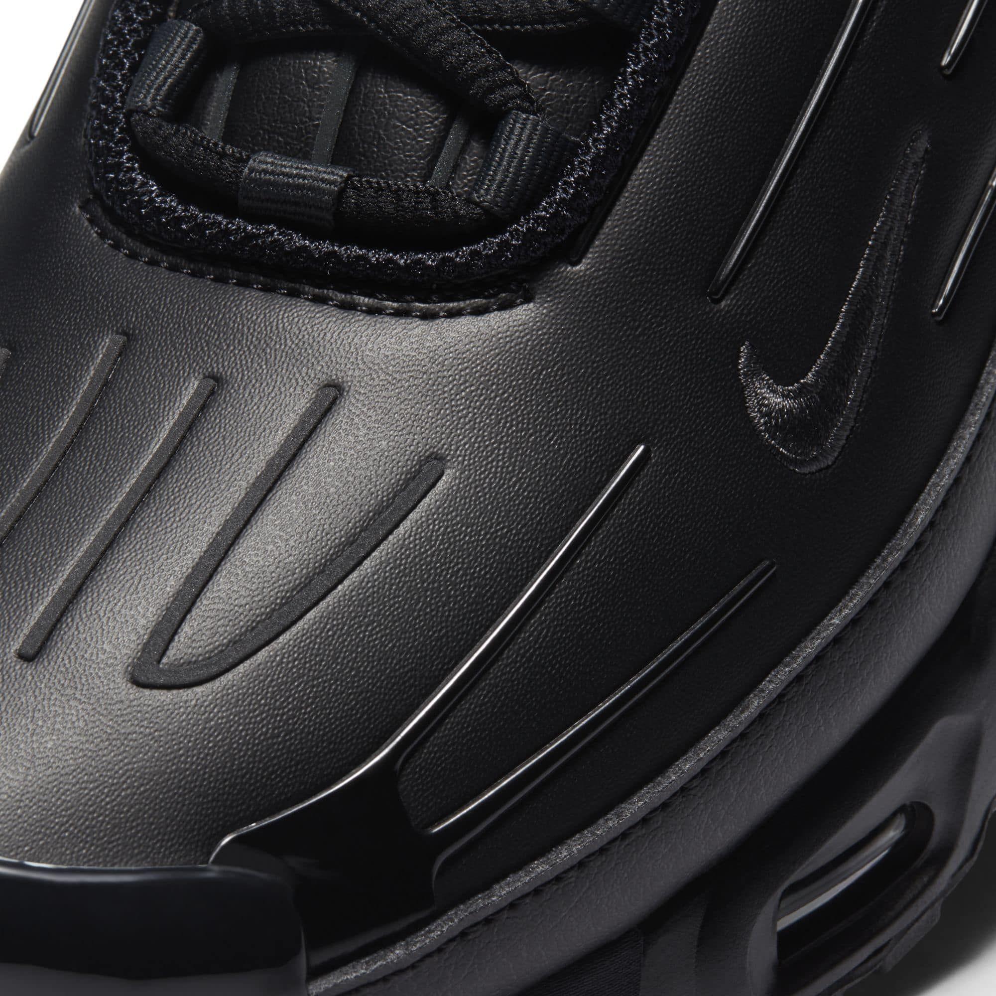 air max plus leather black