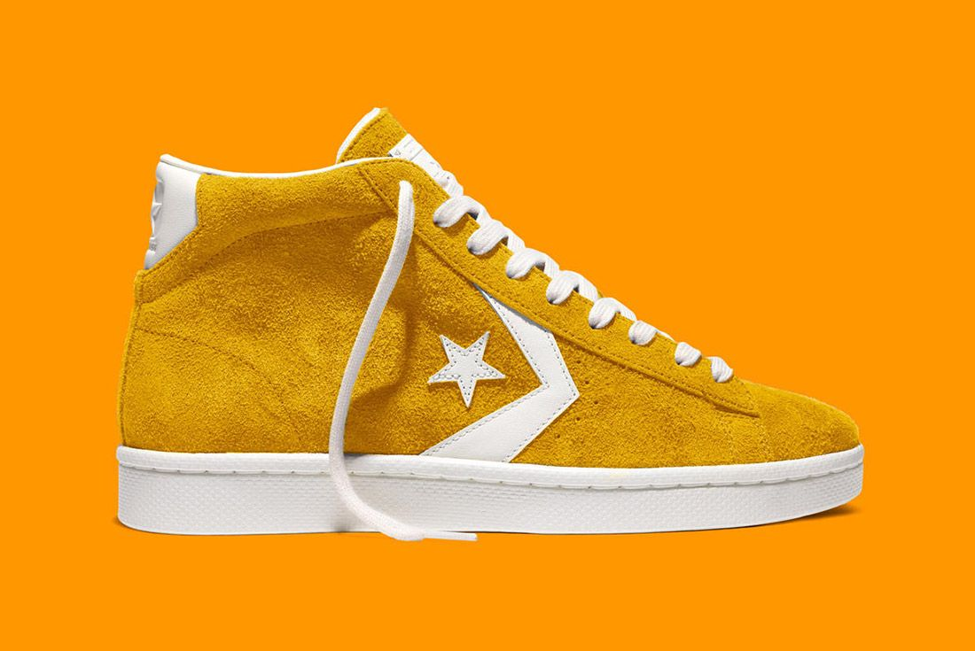 Converse Pro Leather 76 Vintage Suede Yellow