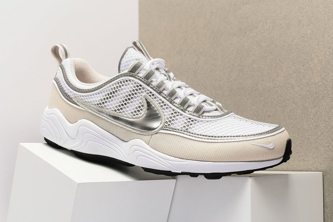 Nike Air Zoom Spiridon16 926955 1065 White Metallic Silver Sneaker Freaker 1