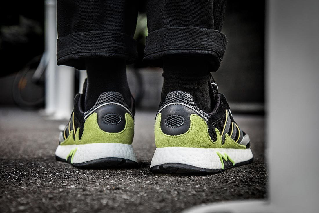 Green Adidas Tresc Run Heel Shot