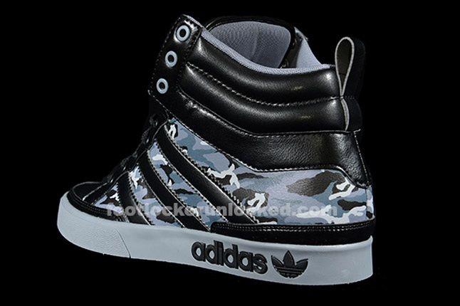 Adidas Top Court Camo Black Heel 1