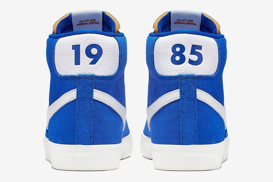 Stranger Things Nike Blazer Blue Og Collection Ck1906 400 Heel Shot