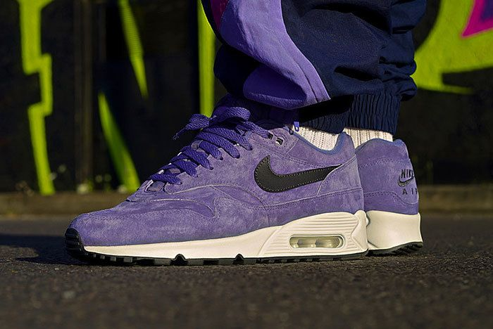 Nike Air Max90 1 Purple Suede