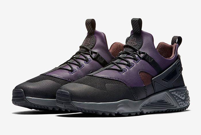Nike Air Huarache Utility Black Purple Brown 4