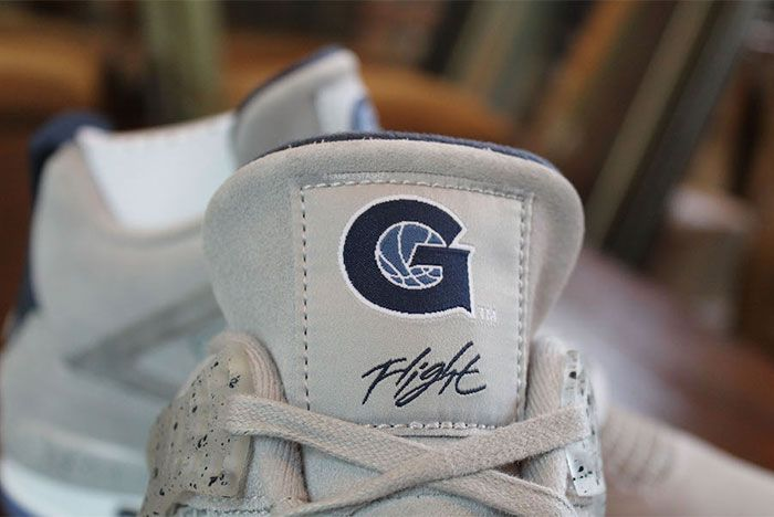Air Jordan 4 Georgetown Tongue
