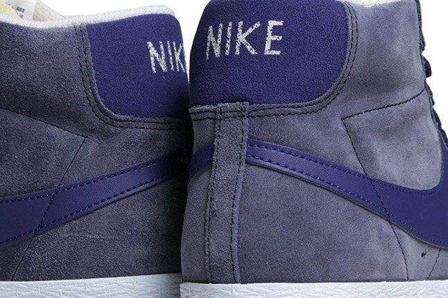 Nike Blazer Mid Suede Obsidian Deep Royal Heel 1
