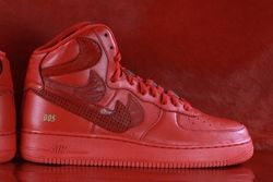 Thumbnike Air Force 1 Misplaced Checks Red John Geiger 03