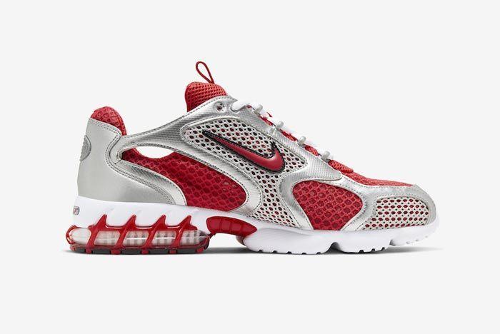Nike Air Zoom Spiridon Caged Varsity Red Medial