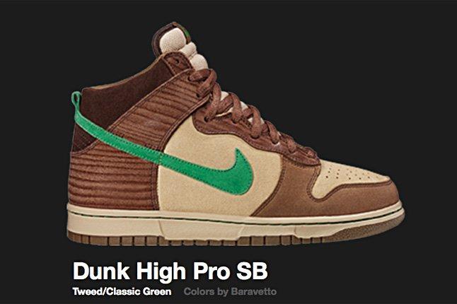 Nike Tweed Green Dunk High Pro Sb 2007 1