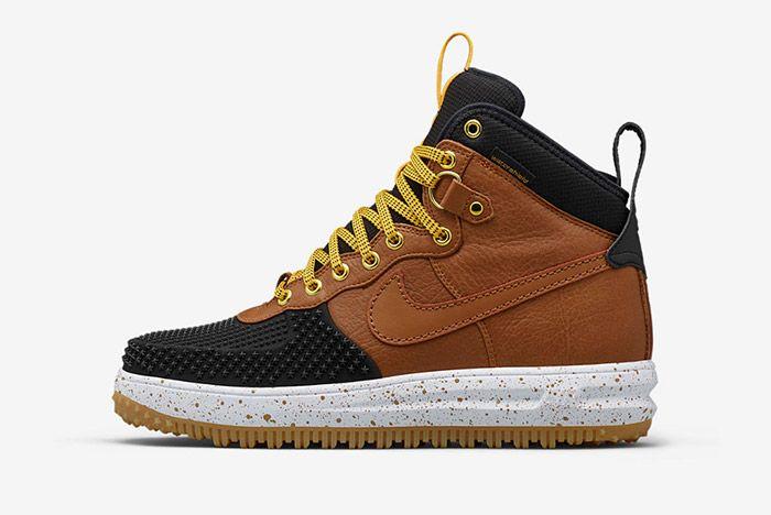 Nike Lunar Force 1 Duckboot Black Brown 5