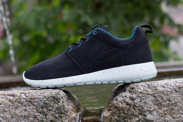 Nike Roshe Run Black Suede Perf Swoosh 5