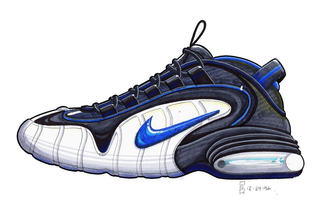 Eric Avar Nike Air Penny Sketch 1994