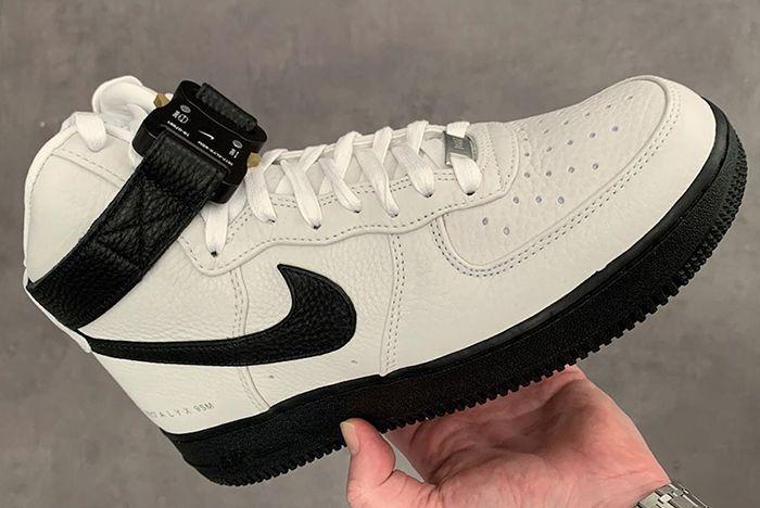 Alyx Nike Air Force 1 High White Black In Hand