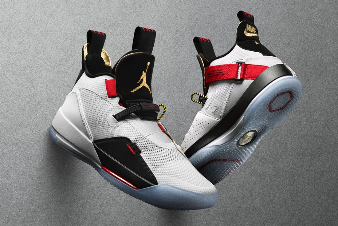 Air Jordan 33 Nike Promo Shots Pair On Grey