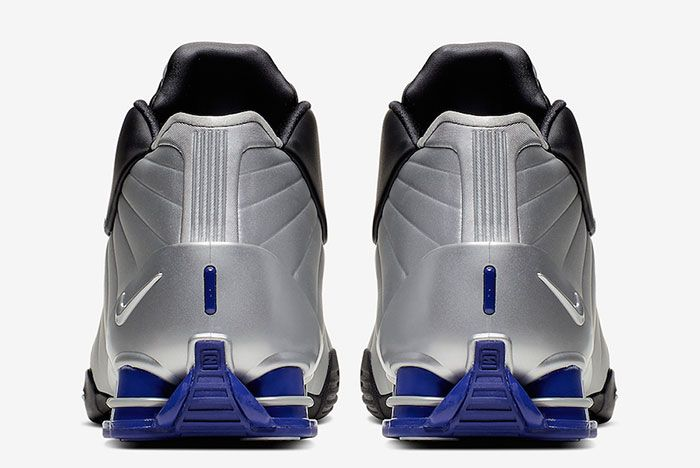 Nike Shox Bb4 Black Metallic Silver Purple At7843 001 Heel