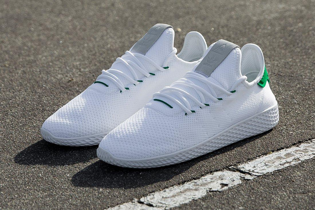 Pharrell Williams X Adidas Tennis Hu White Green5