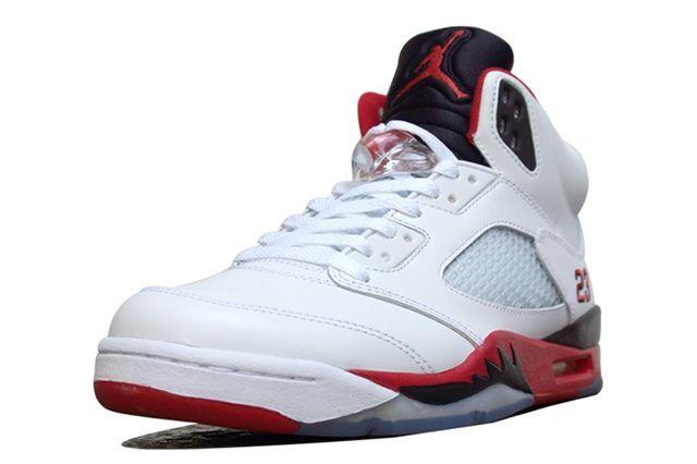 Air Jordan 5 Fire Red Black Tongue 7