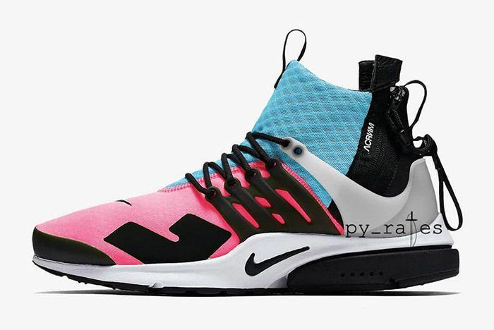 Acronym X Nike Air Presto Mid 2018 Racer Pink Photo Blue Sneaker Freaker 1