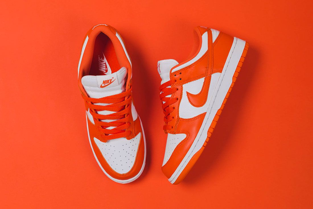 Up There Store Nike Dunk Low Sp White Orange Blaze Top Lateral