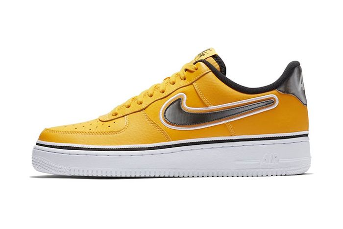 Nba Nike Air Force 1 Low Yellow Black 1