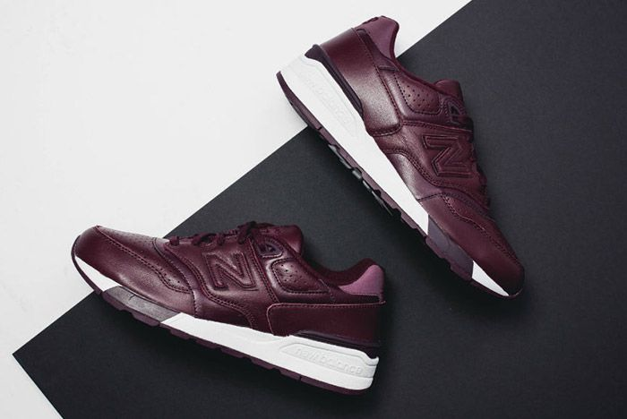 New Balance 597 Burgundy Leather 3