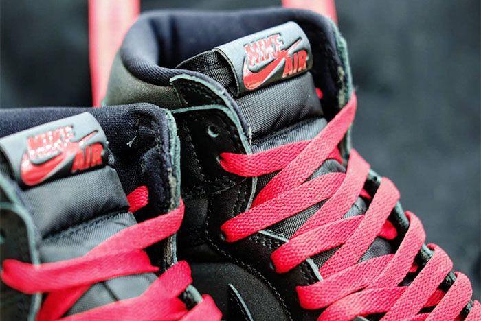 Air Jordan 1 Black Satin Tongue