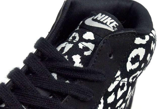 Nike Blazer Mid Black Leopard Laces 1