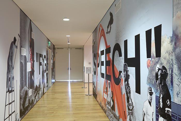 Virgil Abloh Figures Of Speech Exhibition Hallway