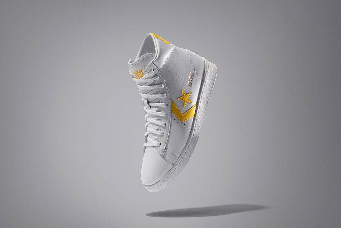 Nike News Nbaall Star2020 Converse Pro Leather High Top 1 Yellow V1 93624 Official Reveal