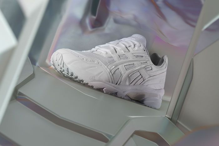 Asics Gel 1090 White Lateral Side Shot