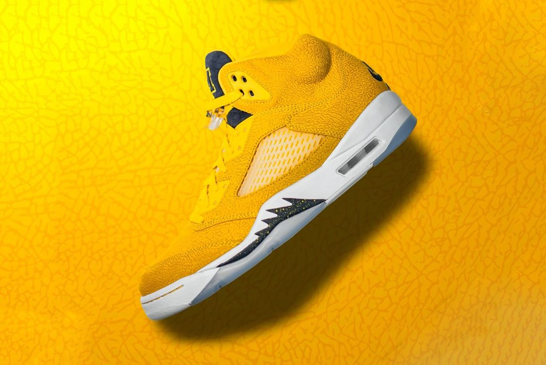 michigan wolverines football air jordan 5 pe